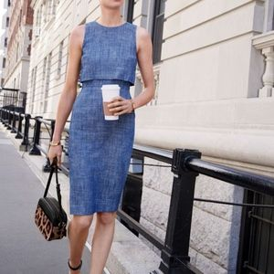 J.CREW Going Places Sleeveless Herringbone Dress